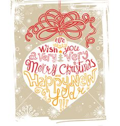 Christmas Card with lettering vector  by gollli on VectorStock®