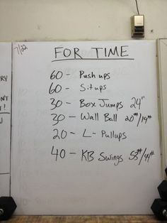 CrossFit WOD. Weekly Workouts - Lip Gloss & Lunges