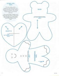 Gingerbread man, teddy bear, heart - Christmas ornaments