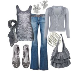 Gunmetal, created by humblelaura on Polyvore