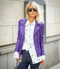 Leather Jacket / Lederjacke - Pantone Colour of the Year | Farbe des Jahres 2018 - Ultra Violet #ultraviolet