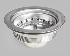 LS101C Stainless Steel Sink Strainer with Rubber Waste Plug (Stopper)