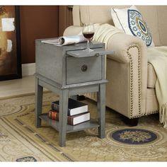 Coast to Coast 70804 One Drawer Chairside Chest in Joplin Texture Grey