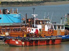 https://flic.kr/p/c6Le6u | Boats moored at Chatham [shared]