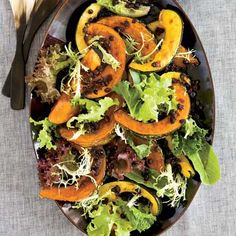 Ginger-Roasted Winter Squash // Holiday Dinner Side Dishes: http://www.foodandwine.com/slideshows/christmas-dinner-side-dishes #foodandwine