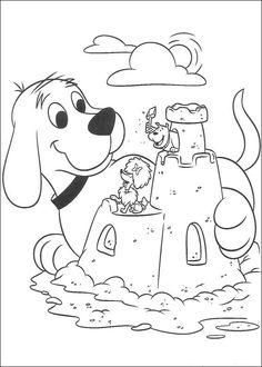 Clifford Fargelegging for barn. Tegninger for utskrift og fargelegging nº 14