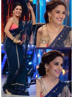 Madhuri Dixit, Madhuri Dixit Collection, Madhuri Dixit Sarees In Jhalak Dikhla Jaa at skbmart.com