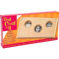 Don't Count On It Original - Tricky Wooden Money Puzzle Box, Great Gift Money Puzzle