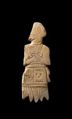 Elément d'incrustation inscrit au nom d'Akurgal, fils d'Ur-Nanshe. Tello