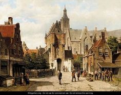 Street In Vianen, Holland - Willem Koekkoek
