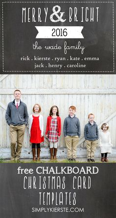 free chalkboard christmas card templates - Free Photo Christmas Card Templates