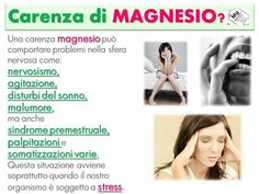 Carenza di magnesio Health And Nutrition, Health Tips, Good To Know, Feel Good, Thai Chi, Stress, Italian Language, Wellness Fitness, Dr Oz