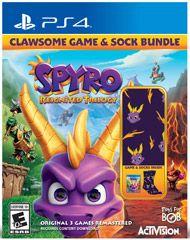 Spyro Reignited Trilogy Clawsome Game & Sock Bundle for PlayStation
