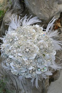 Deposit for an heirloom rich pearl brooch bouquet with by Noaki, $315.00