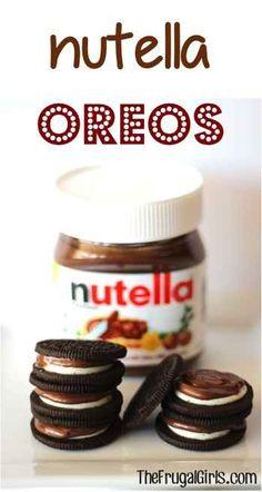 Nutella Oreos | 45 Life Changing Nutella Recipes