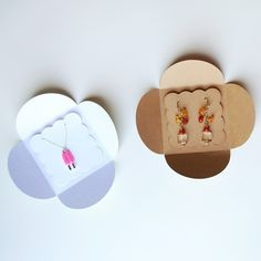 EARRINGS and NECKLACE PACKAGING set of 24 by PapersAndPetals