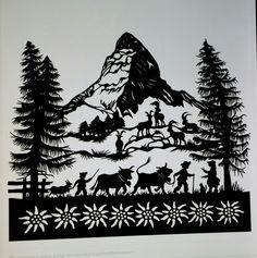 The Matterhorn Aduriz Aduriz Gerber Kirigami, Paper Cutting, Diy Paper, Paper Crafts, Paper Cut Design, Winter Illustration, Paper Artwork, Silhouette Art, Travel Posters