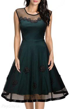 MIUSOL Floral Lace Cap Sleeve Dress