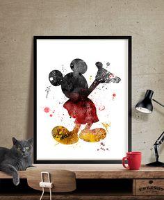 Anniversaire Mickey Mouse aquarelle Art Estampe, affiche Mickey Mouse, Mickey Mouse Disney aquarelle Art Print mur numérique Art - Art, Art mural, décoration, Art Print, affiche, Illustration, dessin, peinture, aquarelle, oeuvre, FineArtCenter  ------------------------------------------------------------------------------------------------ Tailles disponibles sont indiquées dans la sélectionner un taille le menu déroulant au-dessus du bouton Ajouter au panier…