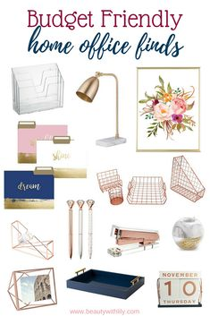 -Affordable Home Office Finds - Beauty With Lily- An organized and welcoming home office is a much needed space to get some work done. I've rounded up a few affordable home office finds to achieve the perfect home office.