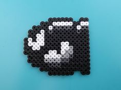 Bullet Bill - Super Mario Bros Pixelated Perler Bead Sprite Magnet. $3.00, via Etsy.