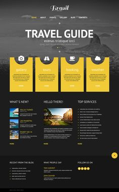 The template's design is very creative. The elegant black-and-white landscape photo outlines the remarkable bright yellow layouts. The flat icons on each of 4 makes the concept com...