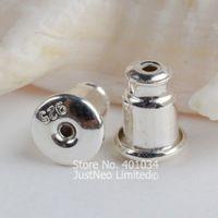 earnut,5mm(plain silver) solid 925 sterling silver earring backs,earring friction back stopper for sterling silver stud earrings
