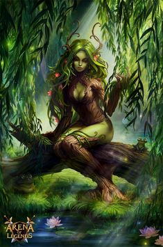 Dryads also known as the Ent-wives or Tavaro and Tavaron in Elvish were a race Forest Creatures, Magical Creatures, Fantasy Creatures, Fantasy Women, Fantasy Girl, Fantasy Races, Wood Nymphs, Fantasy Forest, Forest Fairy
