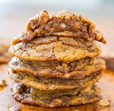 Toffee milk chocolate peanut butter cookies