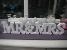 Brand New Mr & Mrs white wooden wedding decoration table gift   eBay