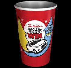 Tim Horton's Roll Up The Rim contest is back for the 2014 season!  Starting February 17, 2014, every time you buy a hot beverage at Tim Horton's restaurants across Canada you will ge