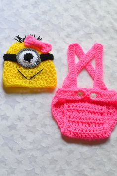 Baby Girl Despicable Me Crochet Outfit. Despicable Me Minion Outfit on Etsy, $20.72 CAD