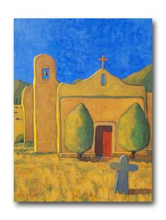 Robert Burt, Adobe Church in Golden Light. Love Art, All Art, Adobe Homes, Southwestern Art, Mexico Art, American Frontier, Mexican Artists, Arts Ed, Deviant Art
