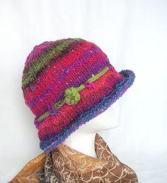 Image detail for -Hat Knitting Pattern pdf, Easy Knit Hat Pattern, Knit Cloche Hat ...
