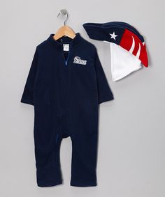 Take a look at this New England Patriots Fleece Playsuit - Infant & Toddler I bought at zulily today! My husband will be thrilled!
