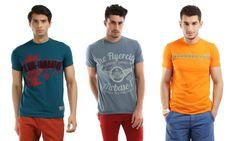 Buy 1 Get 1 on Men T-Shirts brand Break Bounce @ Myntra