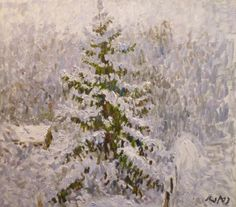 Georgij MOROZ - Winter | From a unique collection of paintings at http://www.1stdibs.com/art/paintings/