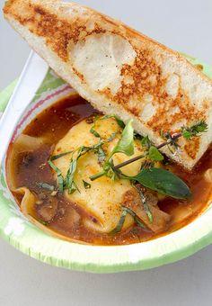 Sonoma goat cheese ravioli, Curbside Chef