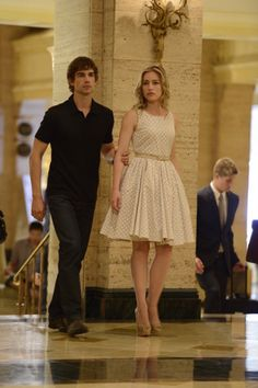 "Suffragette City - TV.com Piper Perabo and Christopher Gorham in Covert Affairs from ""Suffragette City""  Auggie and Annie"