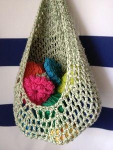 Crochet hanging basket