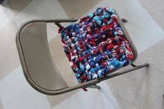 Potholder Chair Pad 14x14 Parade by Crispinaffrench on Etsy, $95.00
