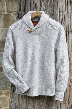 """""""Shop Territory Ahead for our Wool Shawl Collar Toggle Sweater from Schott. Browse our online catalog for more original casual and unique clothing, shoes & accessories made for life's adventures. Unique Outfits, Casual Outfits, Men Casual, Travel Wear, Shawl, Men Sweater, Mens Fashion, Wool, Knitting"""