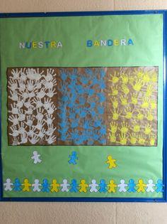 Bandera Canaria con manos creativas