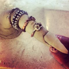 This one was inspired by GO,CHRIS ( Rihanna ) and her always fabulous nails & jewelry. I would love her jewelry collection, lol. Nail Jewelry, Clay Jewelry, Jewelry Art, Fabulous Nails, Jewelry Holder, Bangles, Bracelets, Rihanna, Jewelry Collection