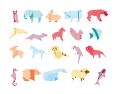 Origami by anttics , via Behance