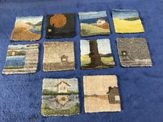 Ten tiny tapestries take a bath a field guide to needlework Weaving Art, Tapestry Weaving, Loom Weaving, Hand Weaving, Crochet Stitches Patterns, Weaving Patterns, Cross Stitches, Small Tapestry, Cultural Crafts