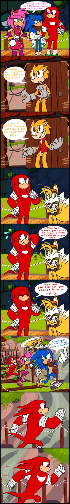 Sonic Boom: Leave Knuckles alone!!! by HoshiNoUsagi on DeviantArt