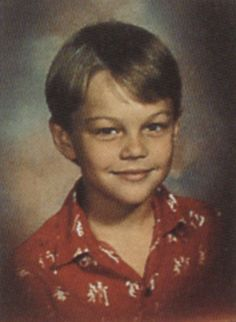 Leonardo DiCaprio as a child, so adorbs