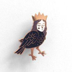 Beast and Tales // Hard enamel pin // mythology pin // Alkonost // lapel pin