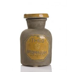 Antique Look Yellow Ceramic Canister